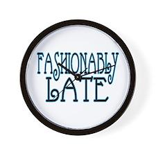 Fashionably Late Wall Clock