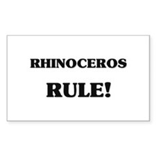 Rhinoceros Rule Rectangle Decal