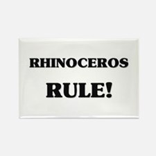 Rhinoceros Rule Rectangle Magnet