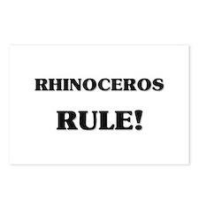 Rhinoceros Rule Postcards (Package of 8)