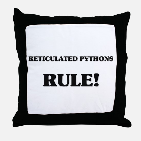 Reticulated Pythons Rule Throw Pillow