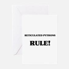 Reticulated Pythons Rule Greeting Cards (Pk of 10)
