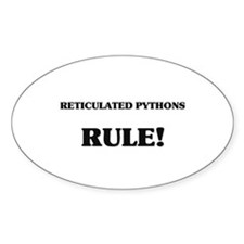 Reticulated Pythons Rule Oval Decal