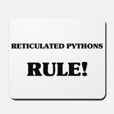 Reticulated Pythons Rule Mousepad