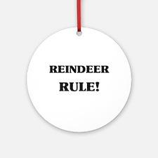 Reindeer Rule Ornament (Round)