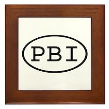 PBI Oval Framed Tile