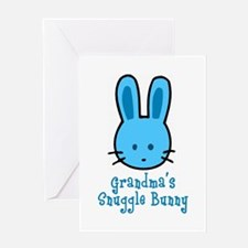 Grandma's Snuggle Bunny (Blue Greeting Card