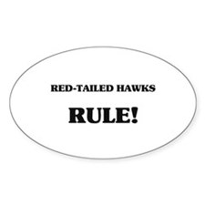 Red-Tailed Hawks Rule Oval Decal
