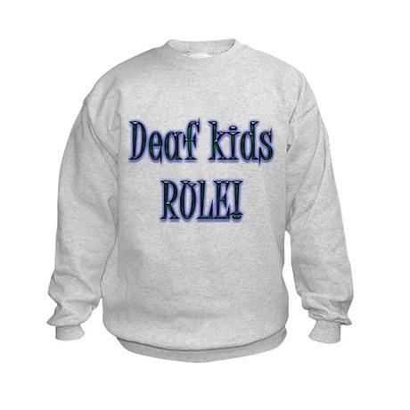 Deaf Kids Rule! Kids Sweatshirt