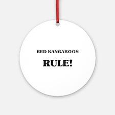 Red Kangaroos Rule Ornament (Round)