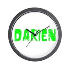 Darien Faded (Green) Wall Clock
