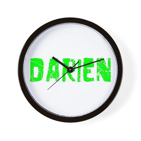 Darien Faded (Green) Wall Clock