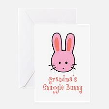 Grandma's Snuggle Bunny (Pink Greeting Card