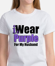 I Wear Purple For My Husband Tee