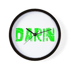 Darin Faded (Green) Wall Clock
