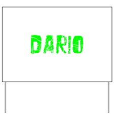 Dario Faded (Green) Yard Sign