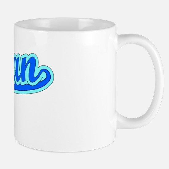 Retro Rowan (Blue) Mug