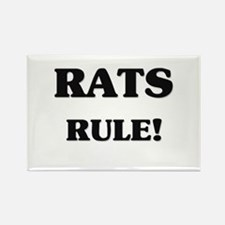 Rats Rule Rectangle Magnet