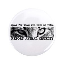 "Report Animal Cruelty Cat 3.5"" Button"