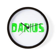 Darius Faded (Green) Wall Clock