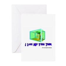 I Love My Fish Tank Greeting Cards (Pk of 10)