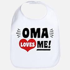 Oma Loves Me Cotton Baby Bib