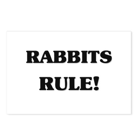 Rabbits Rule Postcards (Package of 8)