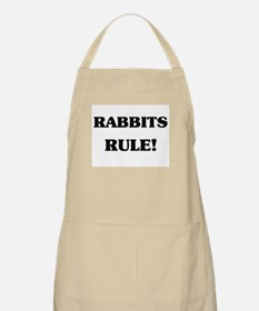 Rabbits Rule BBQ Apron