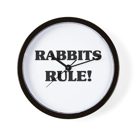 Rabbits Rule Wall Clock