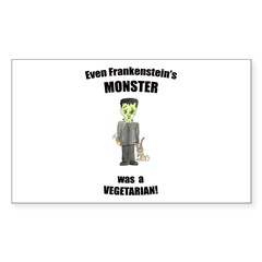 even monsters are vegetarian! (PETA) Decal