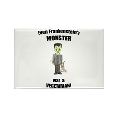 even monsters are vegetarian! (PETA) Rectangle Mag
