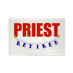 Retired Priest Rectangle Magnet (100 pack)
