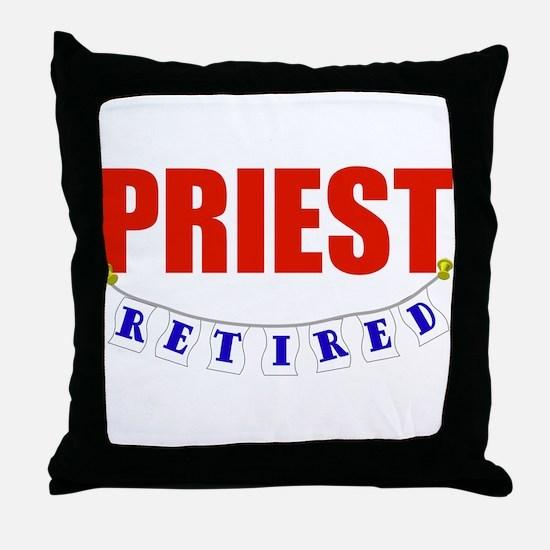 Retired Priest Throw Pillow