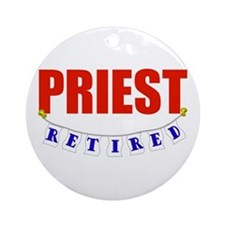 Retired Priest Ornament (Round)