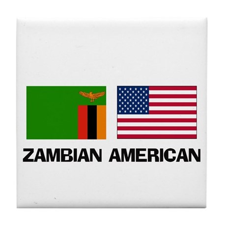 Zambian American Tile Coaster