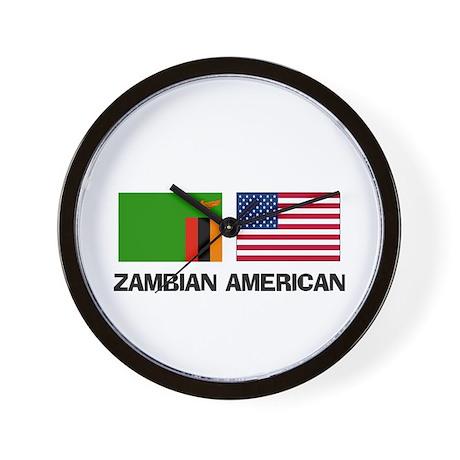 Zambian American Wall Clock
