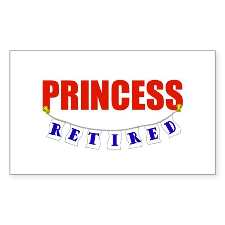 Retired Princess Rectangle Sticker
