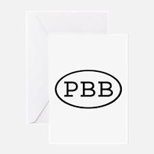 PBB Oval Greeting Card
