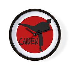 Caiden Karate Wall Clock