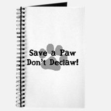 Save a Paw, Don't Declaw Journal