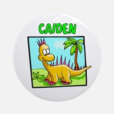 Caiden Dinosaur Ornament (Round)