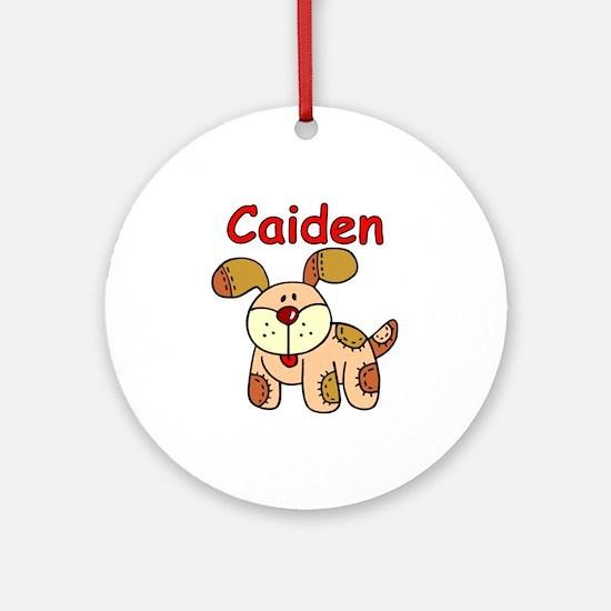 Caiden Puppy Ornament (Round)