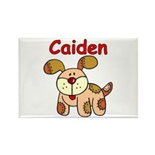 Caiden Puppy Rectangle Magnet