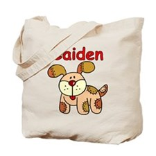 Caiden Puppy Tote Bag