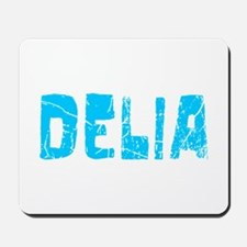 Delia Faded (Blue) Mousepad