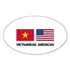 Vietnamese American Oval Decal