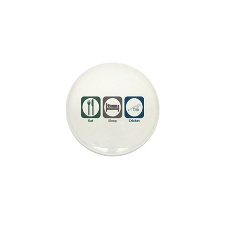 Eat Sleep Cricket Mini Button (10 pack)