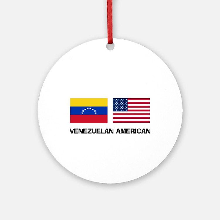 Venezuelan American Ornament (Round)
