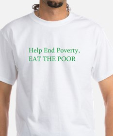 End Poverty White T-shirt