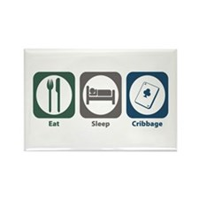 Eat Sleep Cribbage Rectangle Magnet